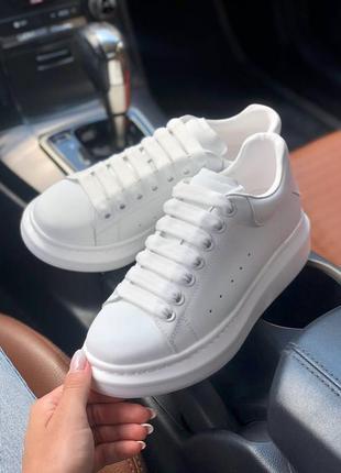 Кросівки alexander mcqueen white pearl кроссовки
