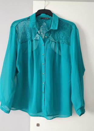 Блуза рубашка с кружевом atmosphere