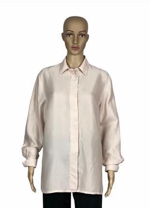 100% шёлковая рубашка,винтаж