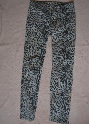 Классные леопардовые штаны джинсы
