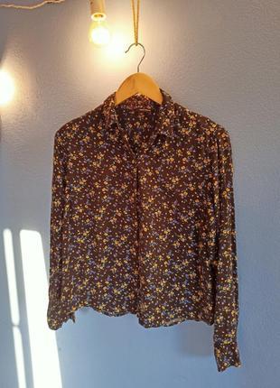 Рубашка в мелкий цветочек