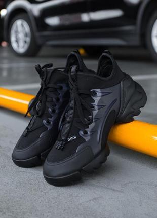 🔥🔥🔥 женские кроссовки в стиле dior d-conneckt 'black'