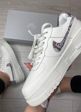 Nike pixel🆕женсике кожаные кеды-кроссовки найк пиксель🆕белые с серым2 фото