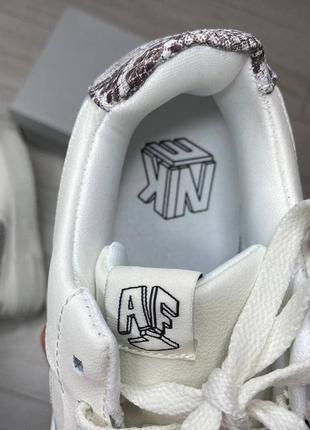 Nike pixel🆕женсике кожаные кеды-кроссовки найк пиксель🆕белые с серым3 фото