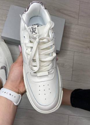 Nike pixel🆕женсике кожаные кеды-кроссовки найк пиксель🆕белые с серым6 фото