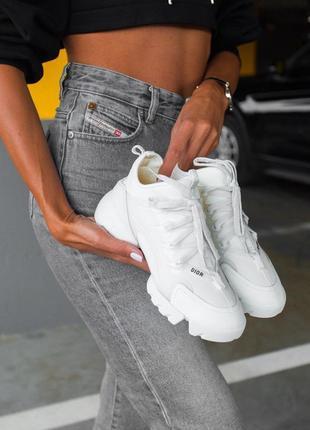 🔥🔥🔥 женские кроссовки в стиле dior d-conneckt 'white'