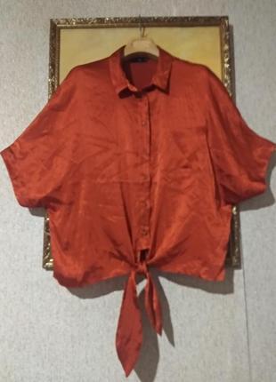 Стильная блузка под завязку