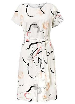 Распродажа!!!красивое натуральное платье с принтом oliver bonas