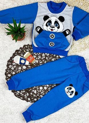 Спортивный костюм для мальчика двухнитка панда