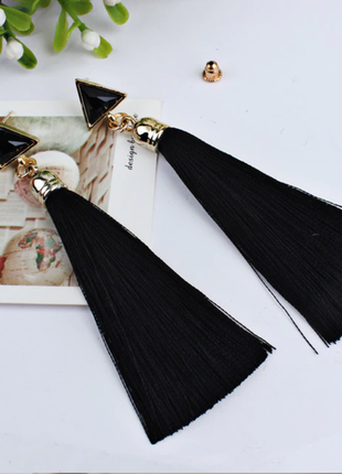 Модные серьги кисти кисточки в стиле бохо