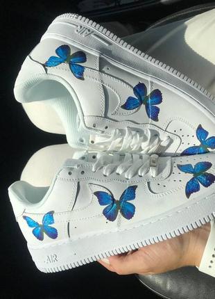 Nike air force 1 low butterfly🆕женсике кожаные кеды-кроссовки найк аир форс🆕с бабочками