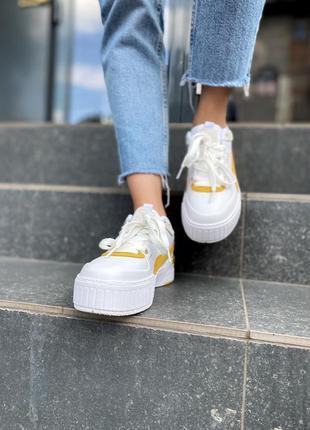 Puma cali yellow кроссовки низкие женские пума