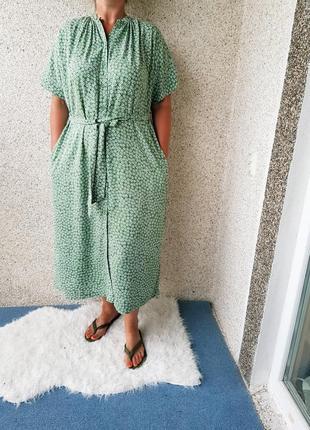 Макси платье халат