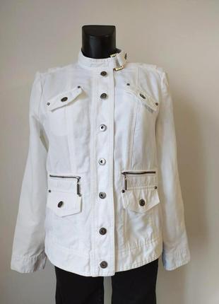 Красивая качественная куртка пиджак john by john richmond, лён/коттон