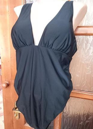 Слитный купальник черного цвета, размер 56 - 58 укр., чашка d  (4 размер)