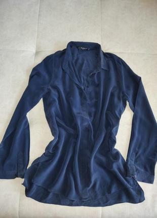 Шелковая блуза рубашка globus 100% натуральный шелк