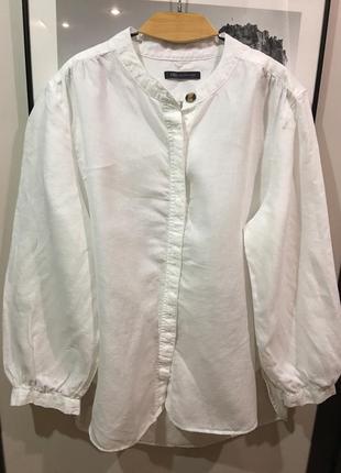 Белоснежная рубашка из 100% льна