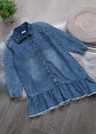 Джинсовое платье-рубашка next отличное состояние