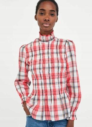 Шикарная блузка в клетку zara