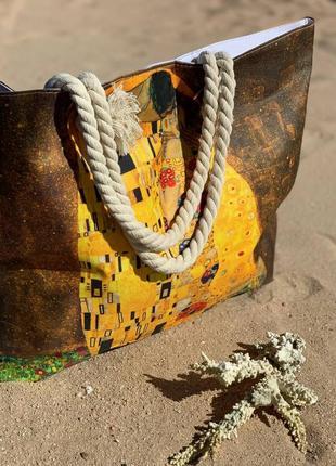🔥🔥мега стильные котоновые пляжные сумки репродукции картин