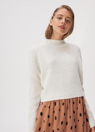 Укороченный джемпер свитер кофта с металлизированной нитью в ассортименте