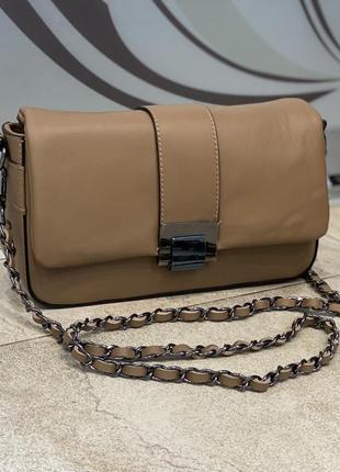 Сумка кожаная карамель итальянская сумка кожаная сумка шкіряна жіноча сумка из мягкой кожи