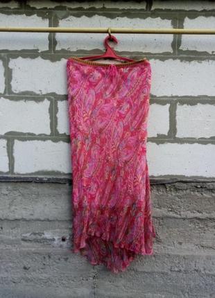 Юбка, платье twin-set в  цветочный принт из шёлка