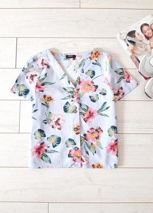 Летняя блуза на пуговичках_лен с вискозой_нежная расцветка