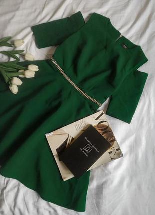 Нарядное, вечернее, выпускное, для дружки платье с открытыми плечами, изумрудное| обмен дороже