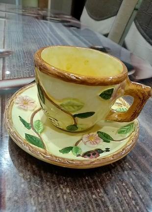 Імпортний набір чашка і тарілка
