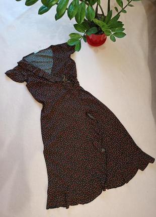 Плаття сукня міді на запах