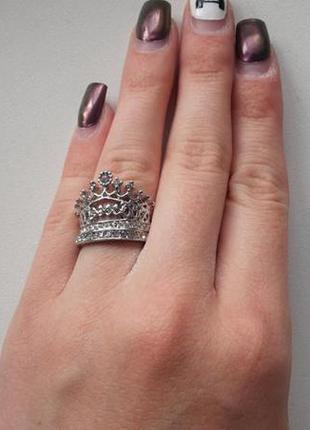 Кольцо корона, набор из 2 колец