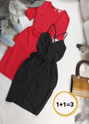 Шикарное новое чёрное мини платье на завязке