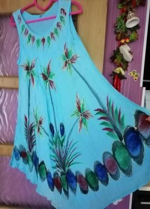 Платье вольного кроя море, пляж