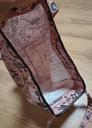 Яркий фирменный натуральный шоппер пляжная сумка soap and glory6 фото