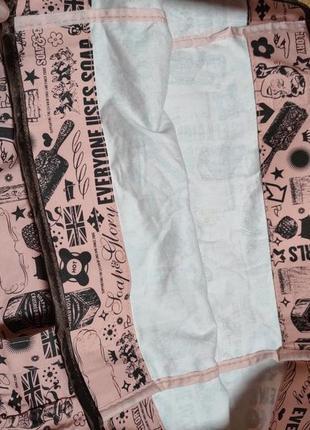 Яркий фирменный натуральный шоппер пляжная сумка soap and glory5 фото