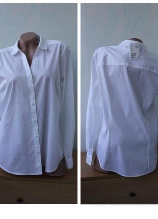 Базовая белая рубашка  h&m