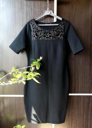 Шикарное, стильное чёрное платье сукня пайетки. 70%вискозы. marks&spencer