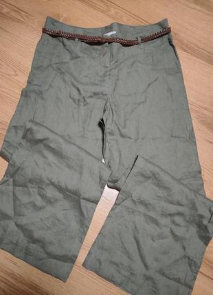 Льняные бюки плаццо от h&m
