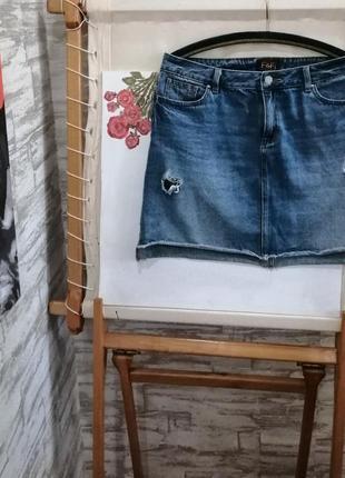 Джинсовая юбка f&f