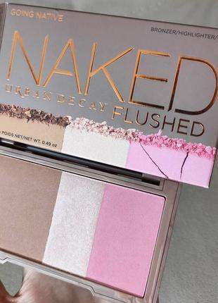 Палетка для макияжа urban decay naked flushed going native - уценка!