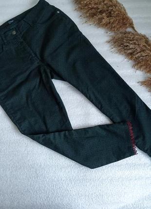 ✨укорочені джинси із кружевним низом ✨