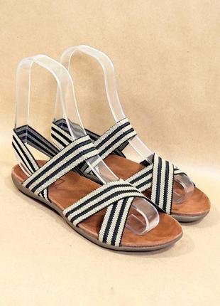 Бежевые босоножки сандали резинки с резинками