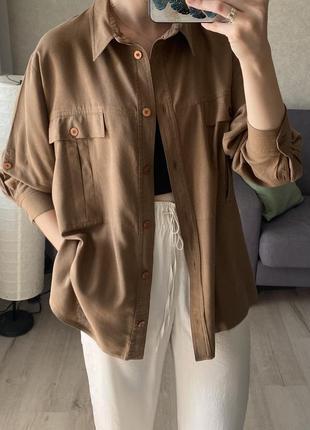 Шелковая винтажная рубашка