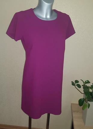Платье прямого кроя цвет фуксия