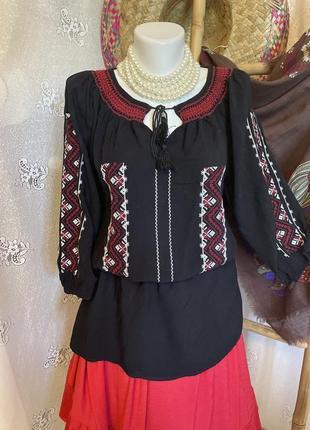 Блуза рубашка бохо этно стиль вышиванка под винтаж