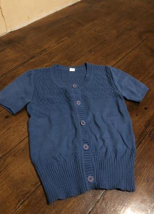 Трендовая трикотажная кофта - футболка