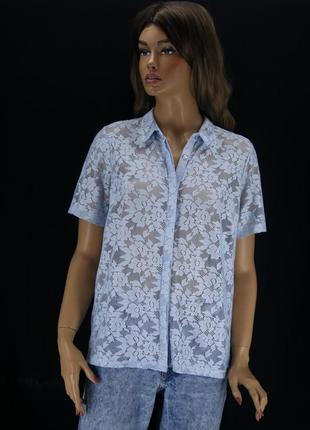 Красивая гипюровая рубашка george. размер uk14eur42.
