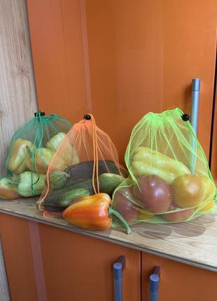 Экомешочки торба торбинка фруктовка сетка екомішок екомішечкі