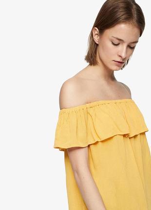 Блуза топ с открытыми плечами вискоза